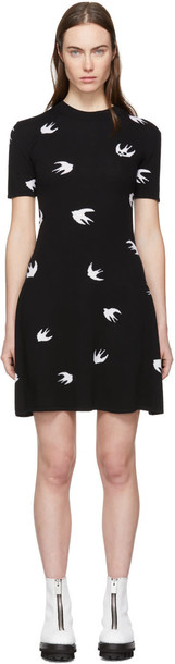 McQ Alexander McQueen dress skater dress mini skater black