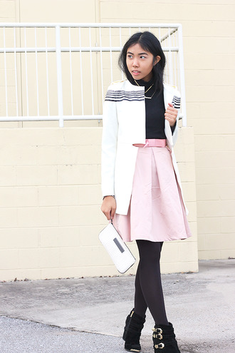 fashion of a novice blogger skirt shoes pink skirt pouch