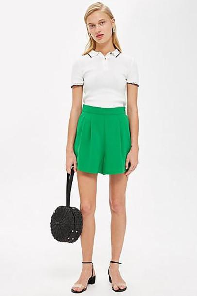 TopShop Flippy Shorts - Green