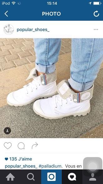 shoes palladium white beautifull