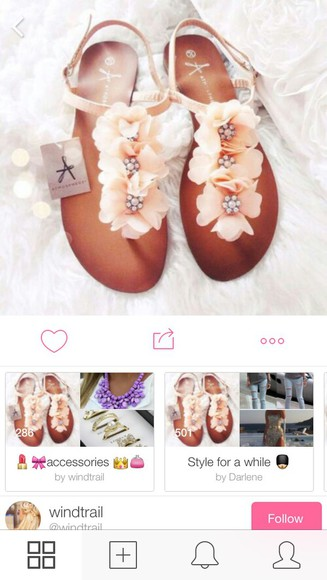 sandals flats floral shoes flowery sandals flower pink lace