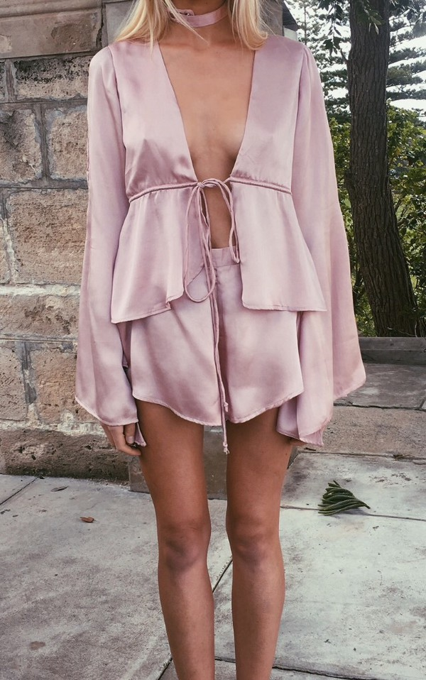 jumpsuit rose pink flare top flashes of style white summer overalls funny pretty shorts top romper