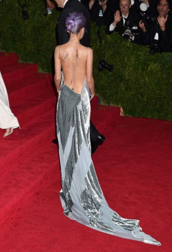 dress silver long prom dress nicole richie low back