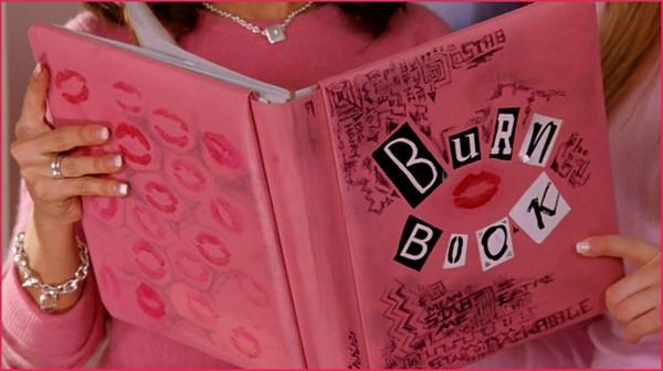 mean girls burn book belt