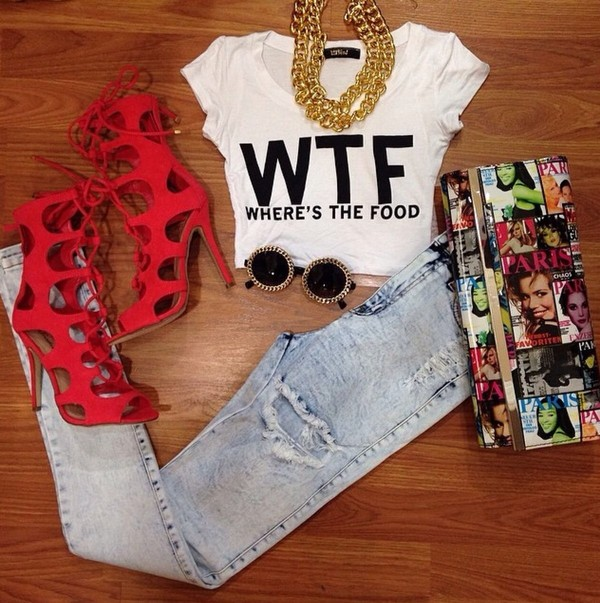 shirt shoes t-shirt blouse