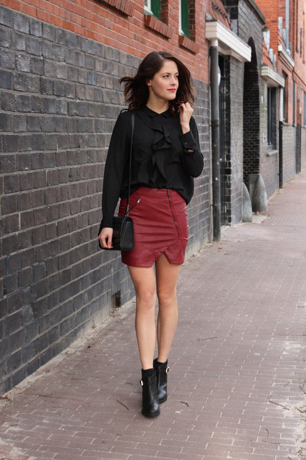 fashion fillers skirt blouse bag shoes