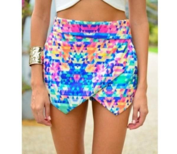 skirt skorts shorts pixelated tetris multicolor multicolor bright inlove illuminous
