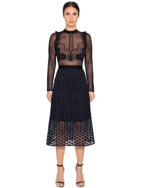 dress midi dress midi lace navy black