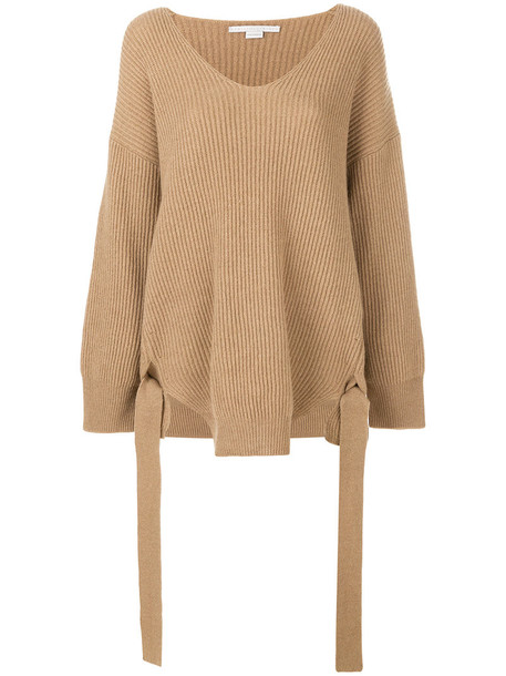 Stella McCartney jumper oversized women nude wool sweater