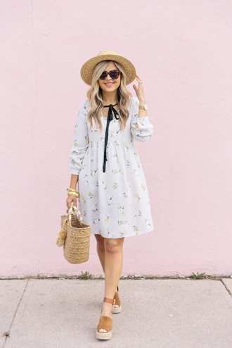 suburban faux-pas blogger hat dress bag shoes sunglasses jewels