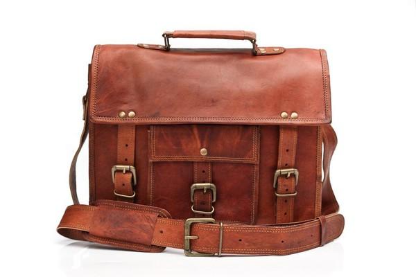 bag laptop bag leather bag vintage leather bag brown leather satchel