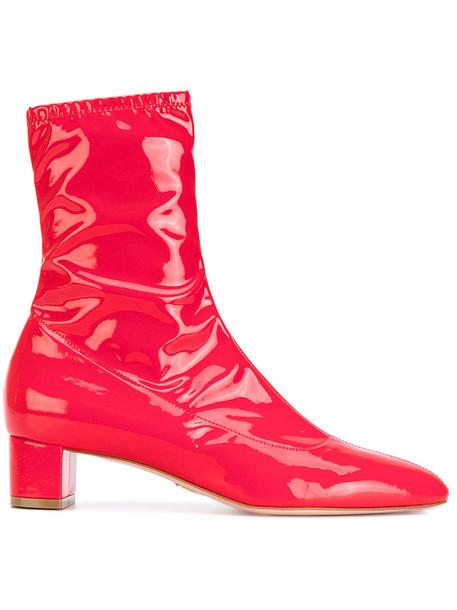 Oscar Tiye women leather red shoes