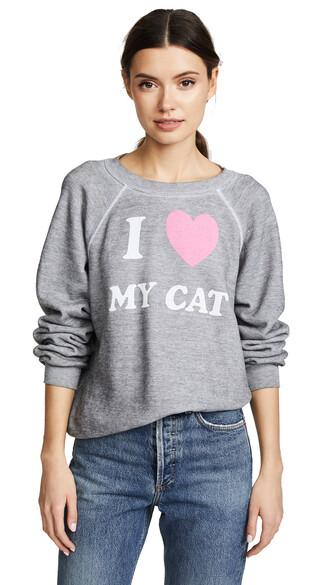 sweatshirt cat sweatshirt love sweater