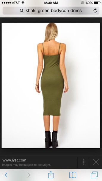 dress green dress bodycon dress midi dress