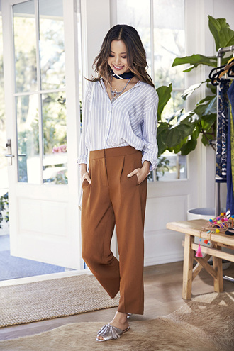 pants shirt jamie chung blogger blouse shoes sandals