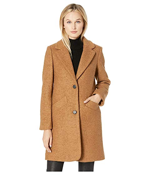 Marc New York by Andrew Marc Paige Pressed Boucle Two-Button Notch Collar