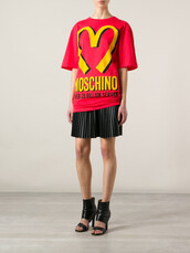 dress,moschino,red,branded,t-shirt