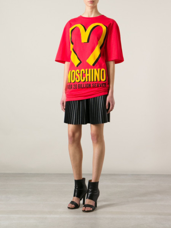 dress moschino red branded t-shirt