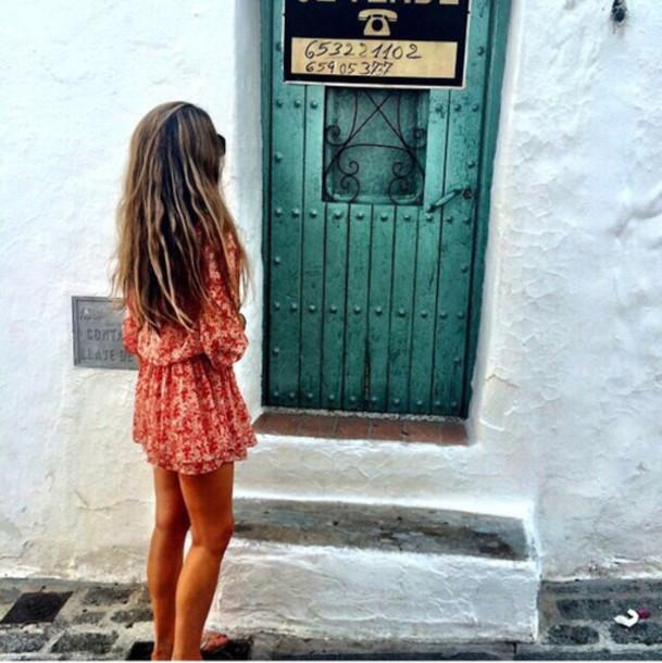 dress summer dress fashion jacket jumpsuit red dress white dress tanned girl romper red turquoise girl style bohemian boho boho chic red summer floral dress pink orange travel