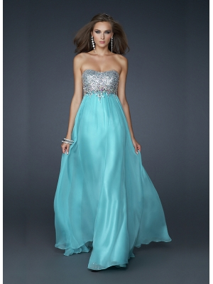Buy Fantastic A-line Scoop Neckline Floor Length Sequins Prom Dress  under 300-SinoAnt.com