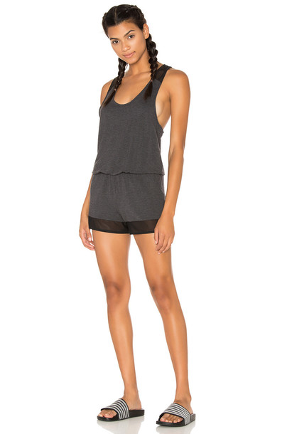 alo Tranquility Romper in charcoal