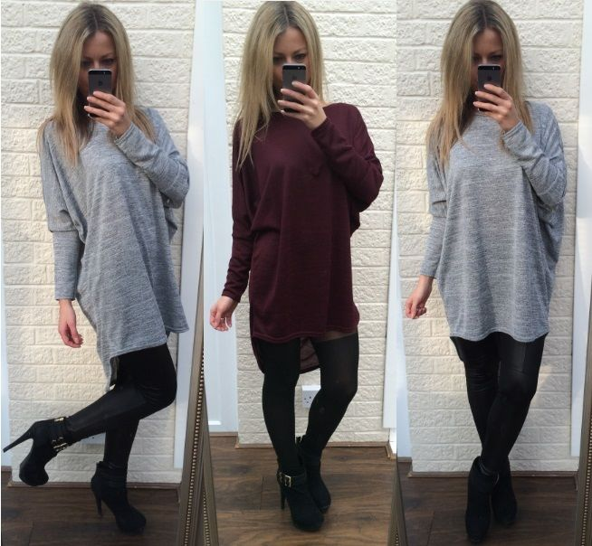 Ladies Long Loose Oversized Batwing Top Blouse Tee T shirt Tunic Maternity Dress
