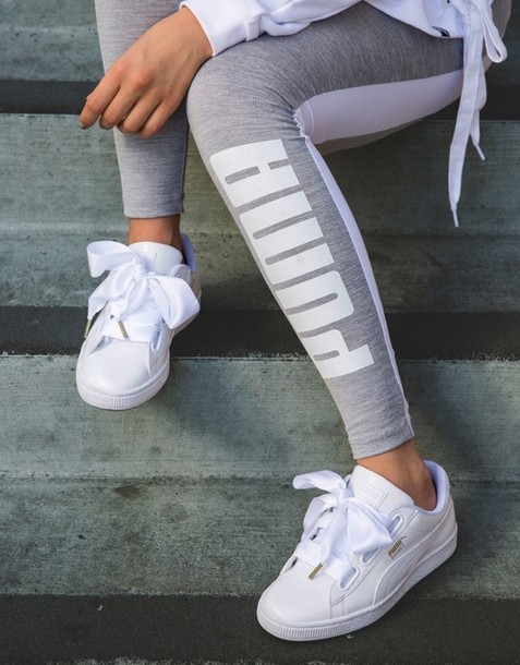 shoes white pumas