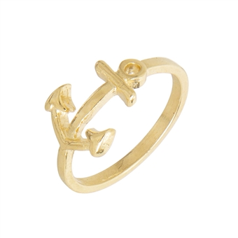 gold anchor ring