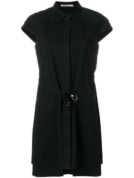 Alexander Wang dress shirt dress women cotton black