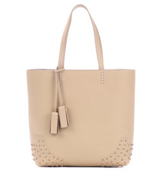 TOD'S leather beige bag