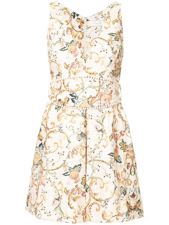 dress print dress women floral print silk