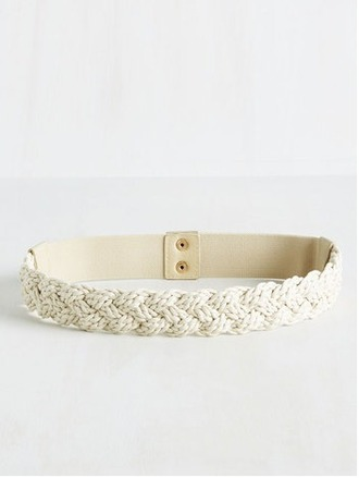belt woven belt cream