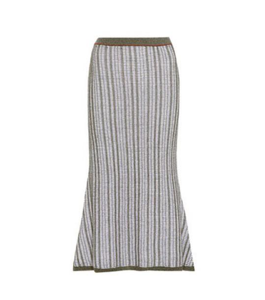 Victoria Beckham skirt cotton wool blue