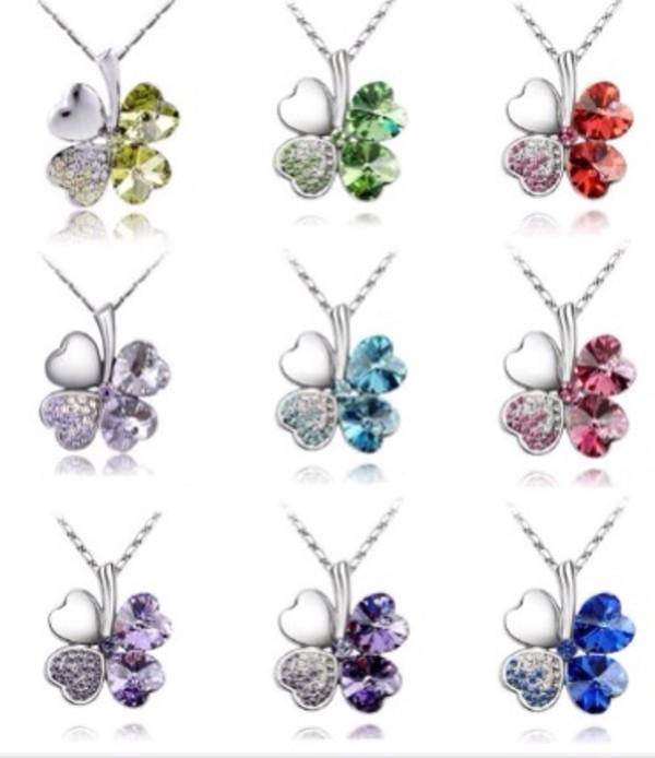 jewels clover necklace