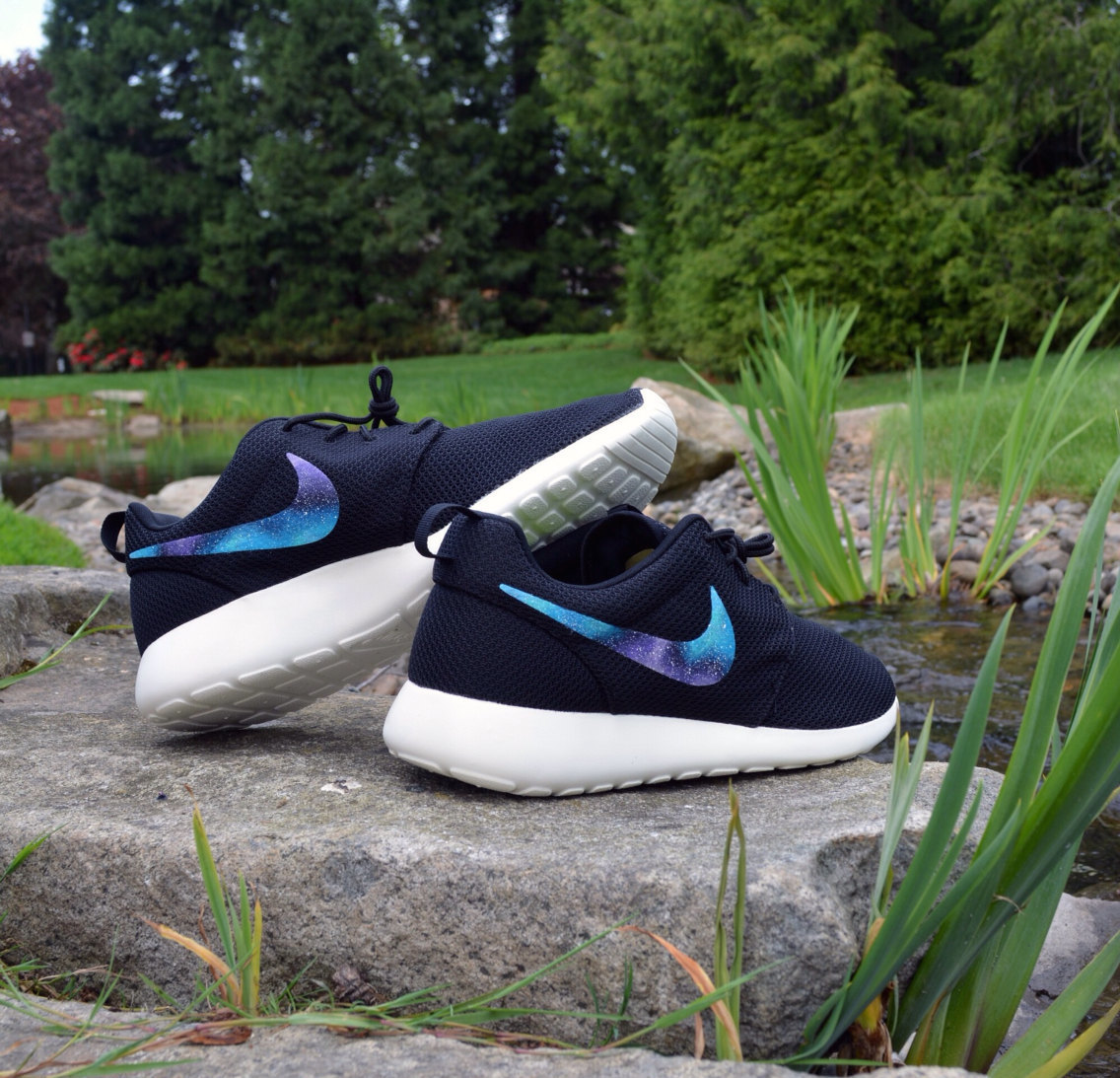 3 day sale!!! custom outer space galaxy nike roshe run !