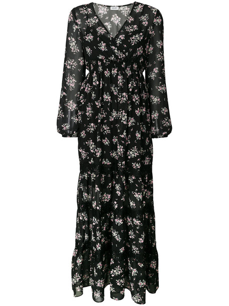 dress maxi dress maxi women floral print black