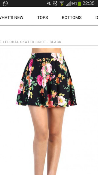 skirt mini skirt pink flowers pink, blue, print, flowers, crop top, crop, tops, flowery girly dress