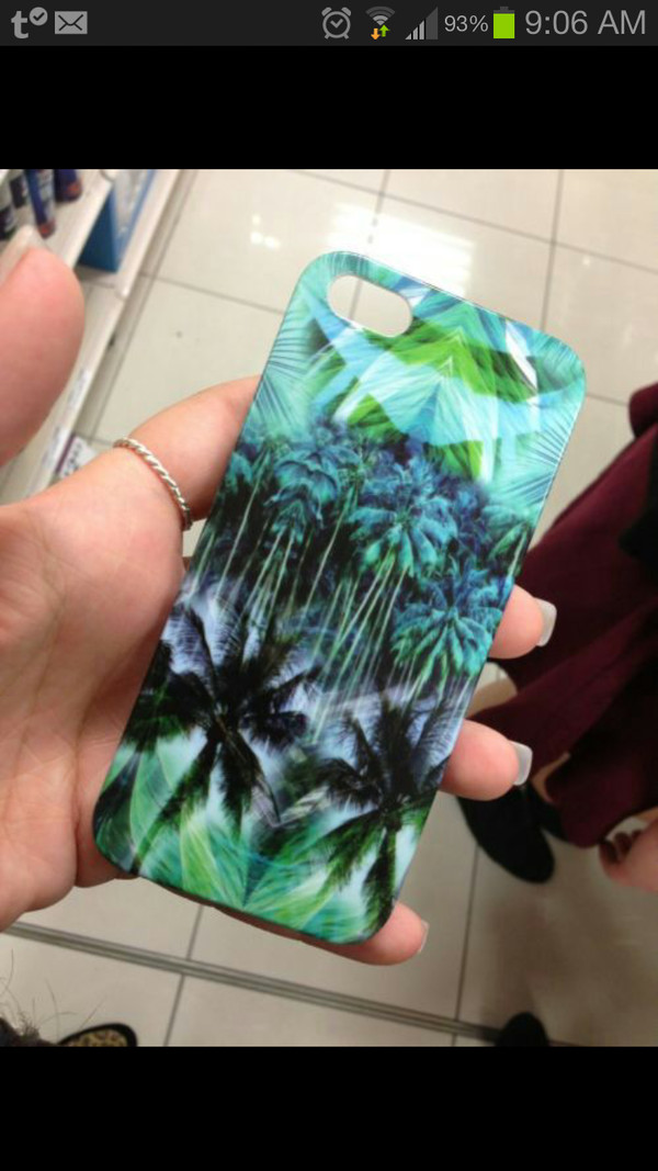 t-shirt phone cover tropical custom