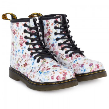 Dr Martens Girls Ditsy Floral Leather Boots | AlexandAlexa