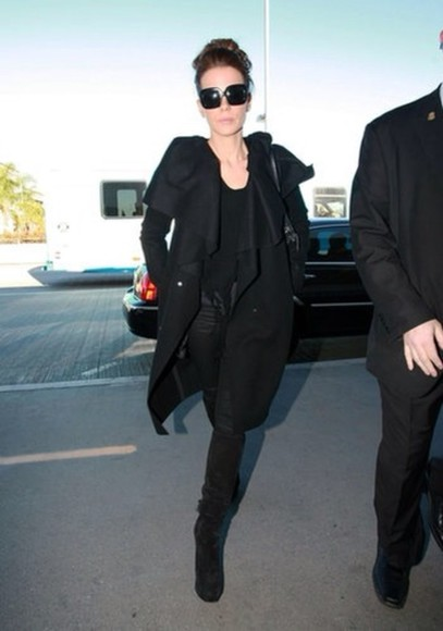 jacket black jacket kate beckinsale