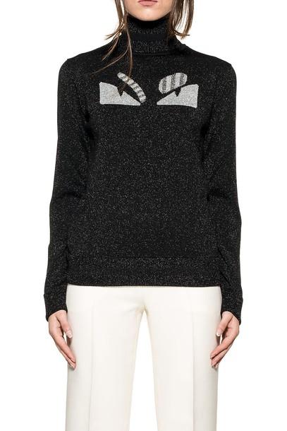 Fendi pullover silver black sweater