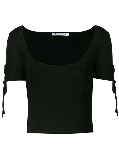 T by Alexander Wang top women spandex black