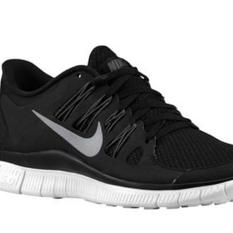 shoes black nike running shoes nike free 5.0 grey white