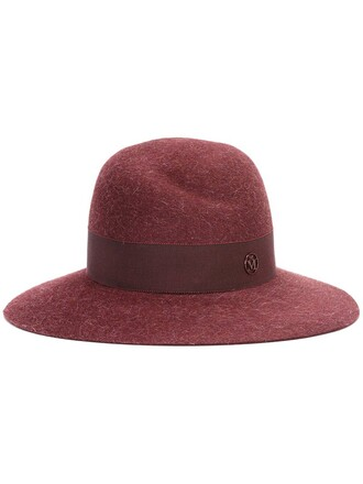 women hat wool red