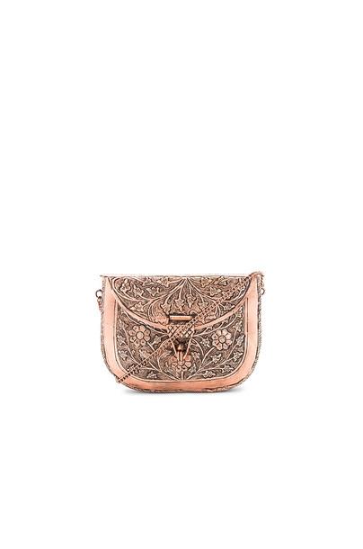 From St Xavier clutch metallic copper bag