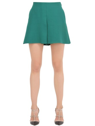 shorts silk wool