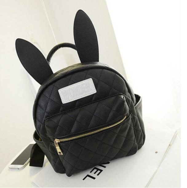 Bag: backpack, bunny, bunny ears, bunny ears backpack ...