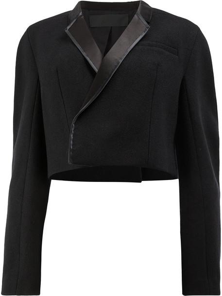 jacket oversized jacket oversized cropped women cotton black silk wool