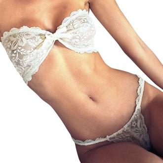 underwear thong white lace bra sexy lingerie strapless hot musheng