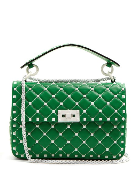 Valentino quilted bag shoulder bag leather white green
